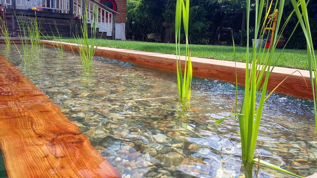 Dobřichovice, realizace zahrady s biotopem