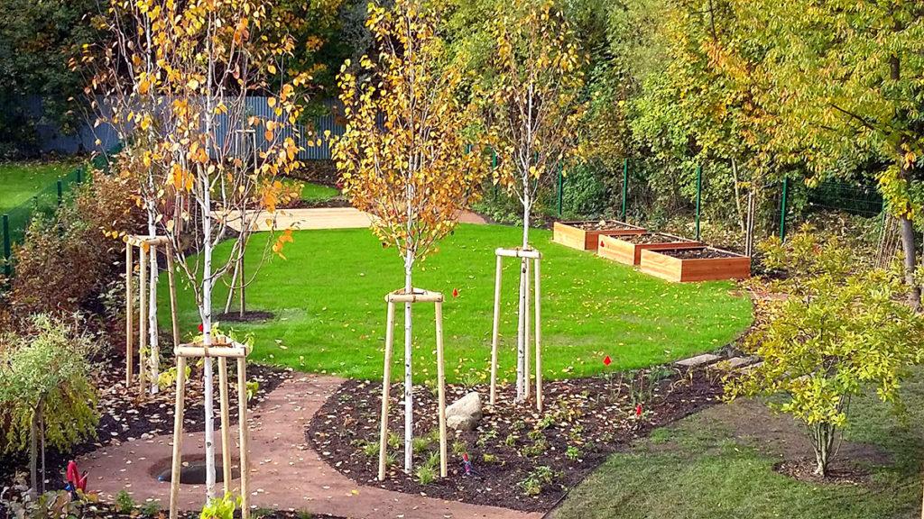 Brandýs nad Labem, realizace zahrady